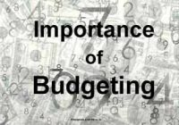 Importance of Budgeting