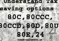 Understand Tax saving options