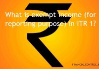 exempt income option ITR1 under section 10