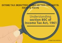 Income Tax deduction under section 80C, 80CCD, 80CCC & 80CCG