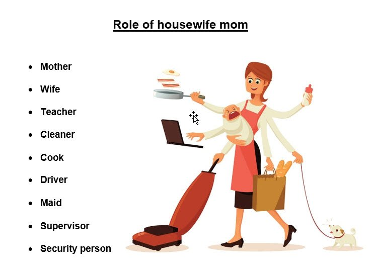 Role of housewife mom