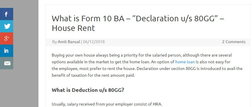 What is Form 10BA