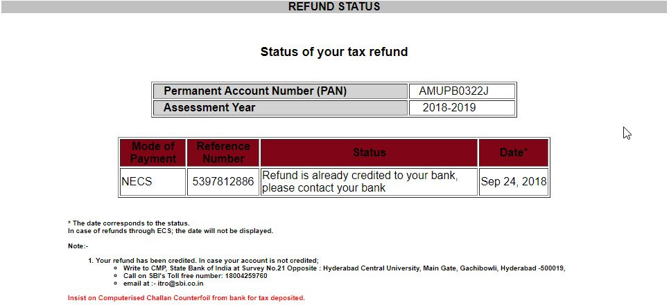 Refund Done