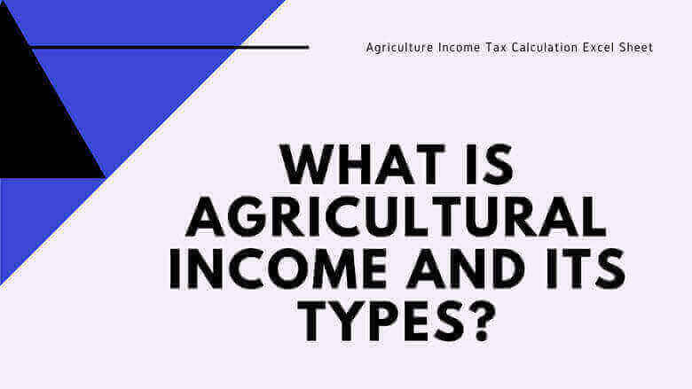 Agriculture Income Tax Calculation Excel Sheet