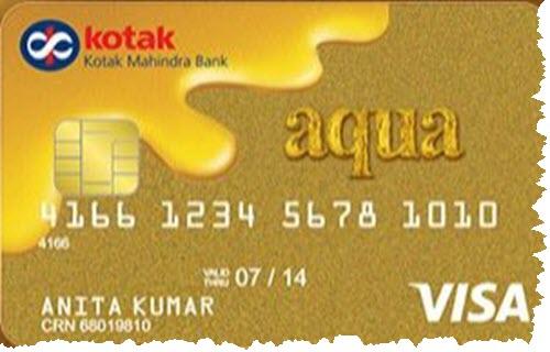 Kotak Mahindra Bank Aqua Gold Card