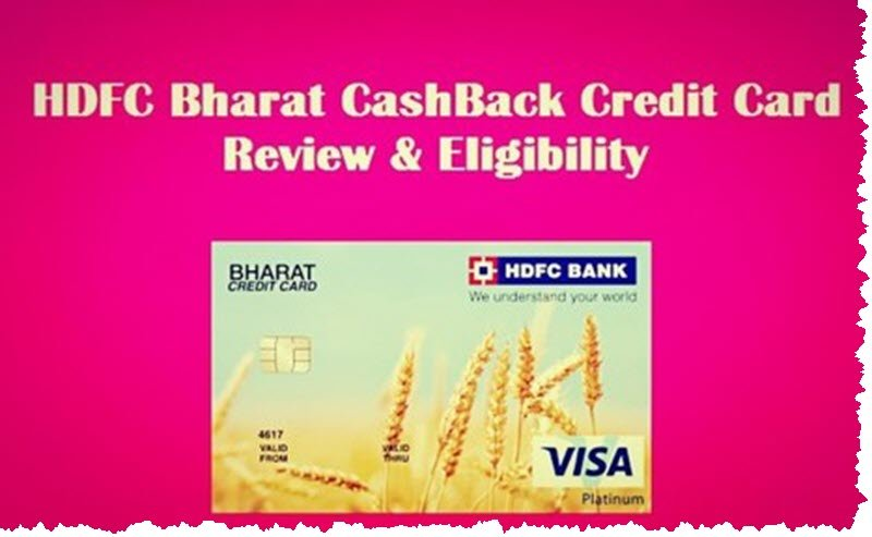 HDFC Bharat Cashback Credit Card review