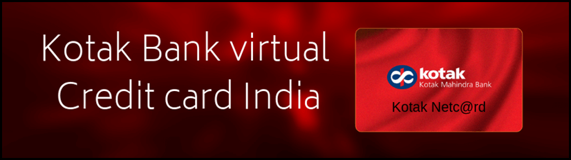 Kotak Bank virtual credit card India