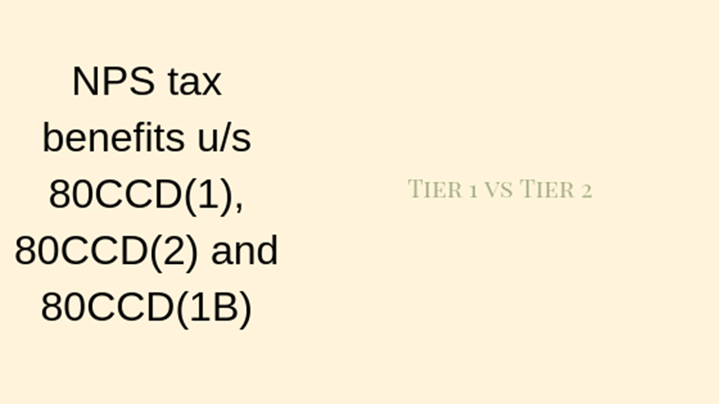 NPS tax benefits