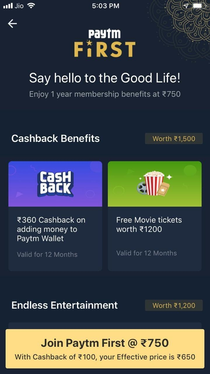 Paytm First Credit Card