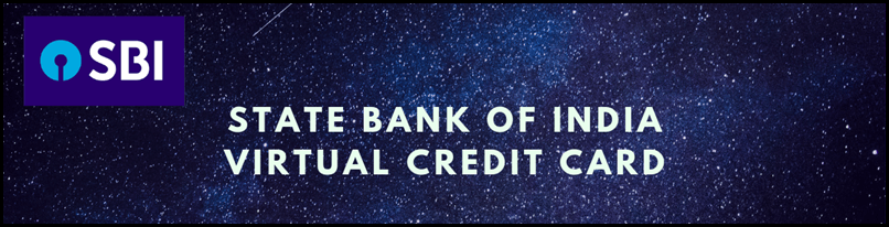 State Bank of India Virtual Credit Card