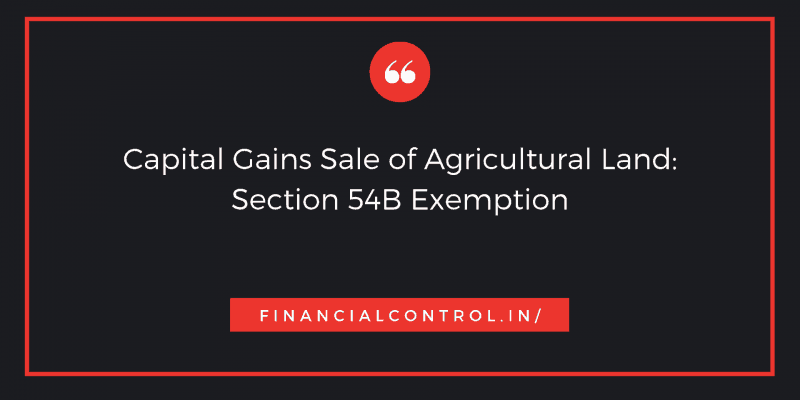 capital gain on sale of agricultural land